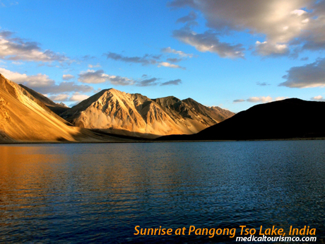 Sunrise at Pangong Tso Lake - India
