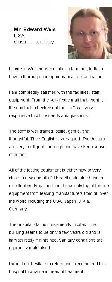 Gastroenterology in India - Client Review