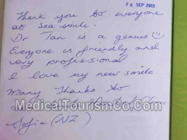 Thailand Phuket Dental Clinic Review by Sofia from New Zealand