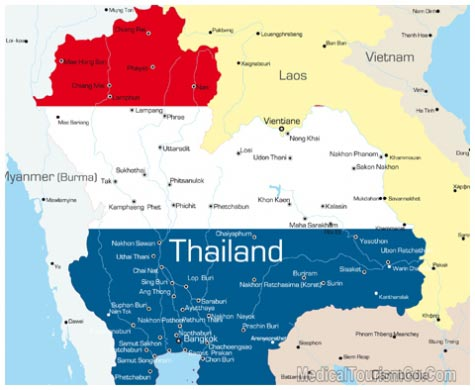 Map of Thailand 2