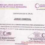 Dr. Esmeral Certificate 8