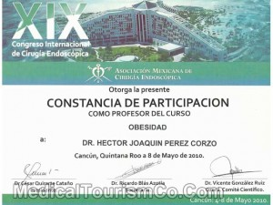 Bariatric Surgery Certificate - Dr. Hector
