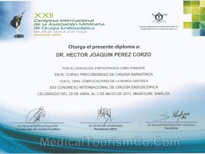 Bariatric Surgery Participation Certification – Dr. Hector Perez