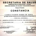 Dr. Camelo - General Surgery Certificate