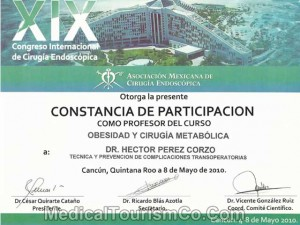 Metabolic & Obesity Surgery Certificate – Dr. Hector Perez