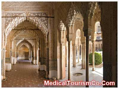 Hall in Alhambra - Spain