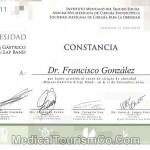 Dr. Francisco Gonzalez Lap Band Certification