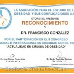 Weight loss surgery certificate - Dr. Francisco Gonzalez