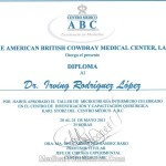 Certification - Plastic Surgeon - Dr. Irving Rodriguez - Tijuana Mexico