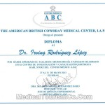 Dr. Irving Rodriguez Plastic Surgeon in Mexico - Certificate
