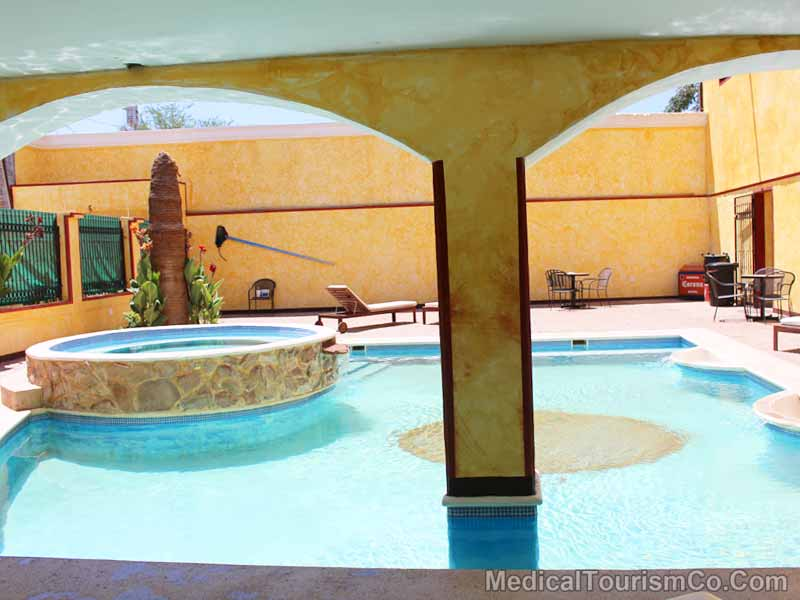 Pool At Hacienda Hotel - Los Algodones