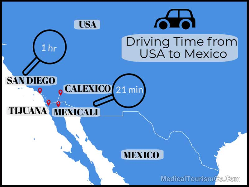Driving Time From the USA To Mexico