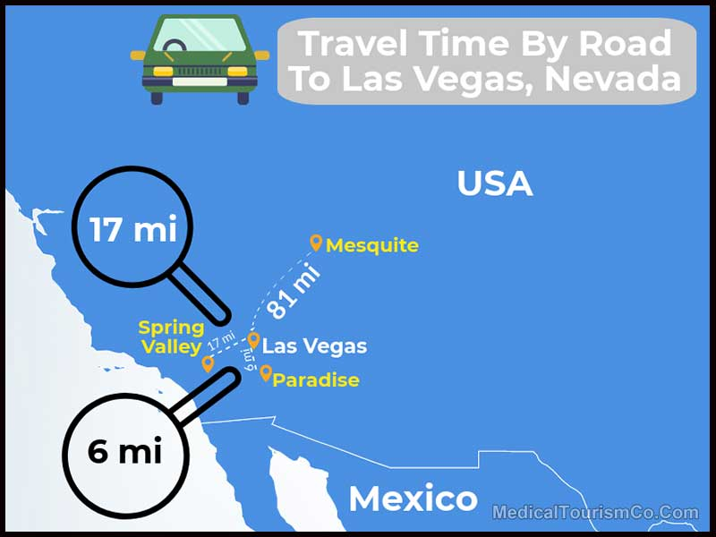 Travel Time By Road To Las Vegas